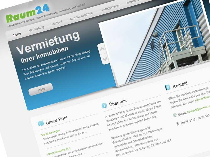 Raum24 Webseite