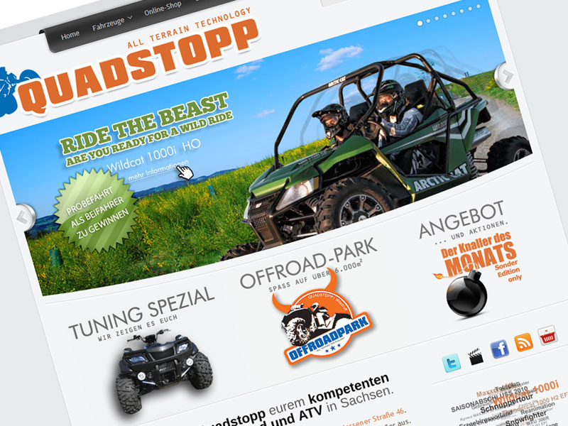 Quadstopp  – Re-Launch der Webseite