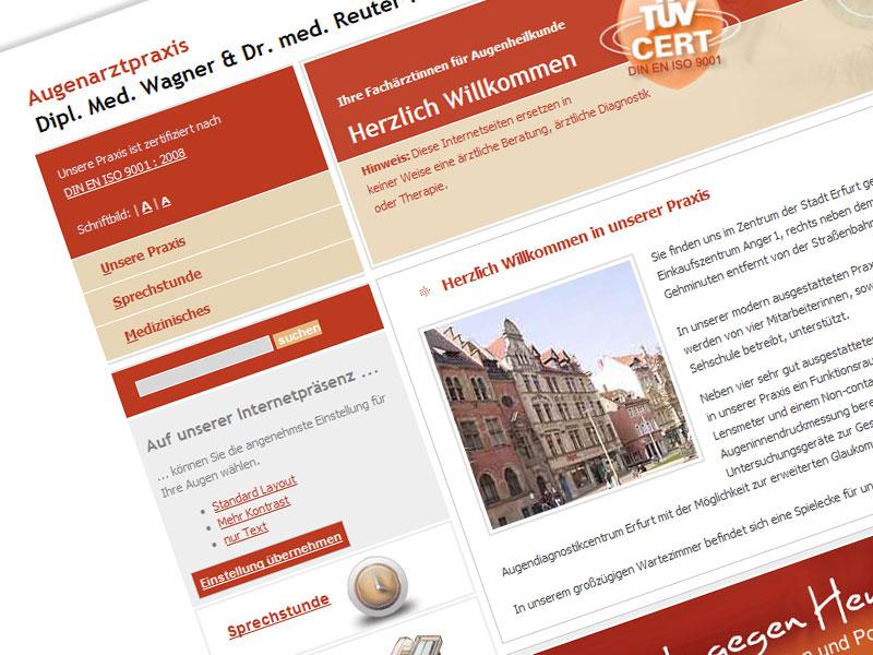 Augenarzt Webseite