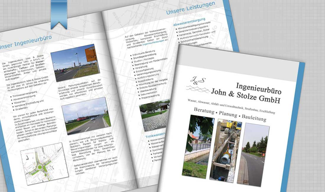 Referenzmappe für Ingenieurbüro John & Stolze