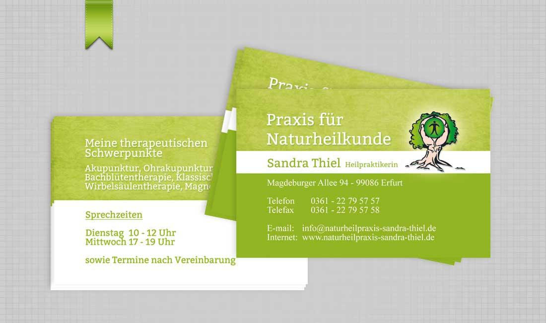 Visitenkarte Naturheilpraxis Sandra Thiel