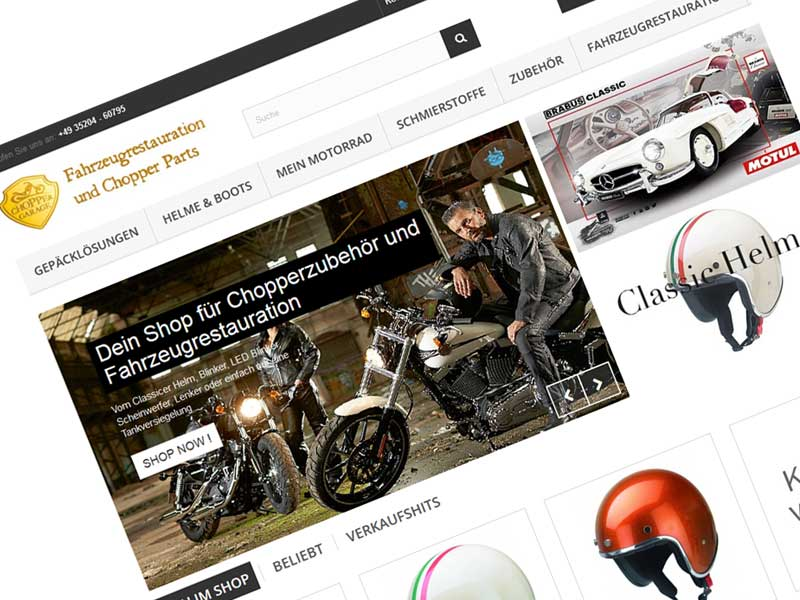 Highway to Parts – chopper-garage.de Onlineshop